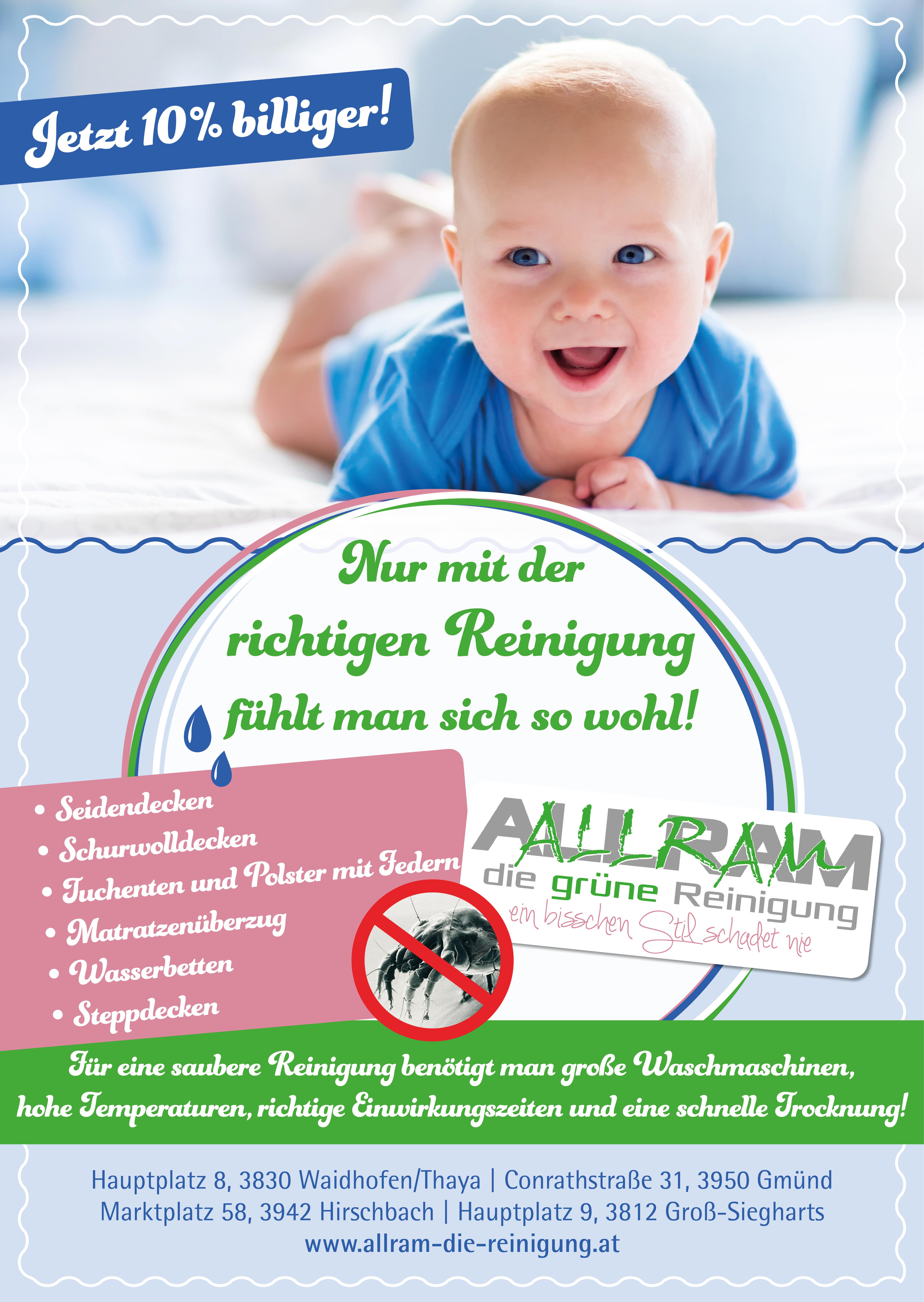 41701592ac77 Steppdecken-Aktion - 10% Billiger - Allram - Die grüne Reinigung